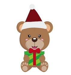 Bear christmas icon 2 vector