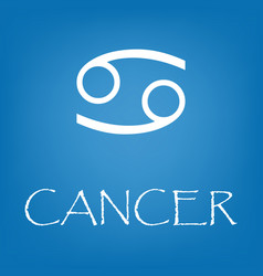 cancer zodiac sign icon simple vector image