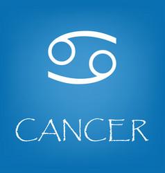 Cancer zodiac sign icon simple vector