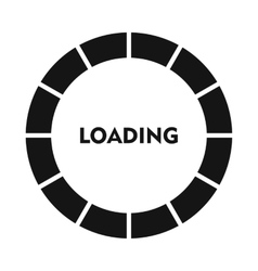 Circle loading bar icon simple style vector