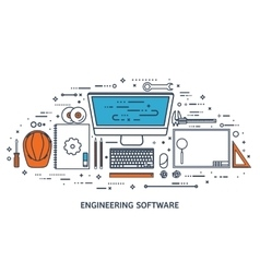 Engineering and architecture vector image