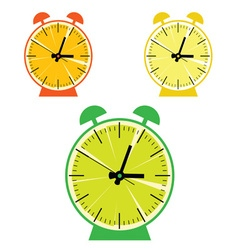fruit clock color vector image