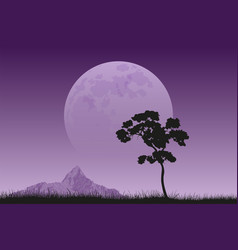 Full moon rising vector