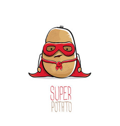 funny cartoon cute brown super potato vector image
