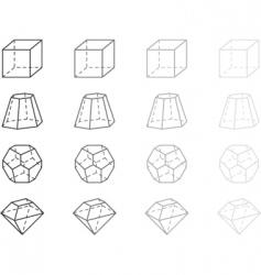 geometry figures vector image vector image