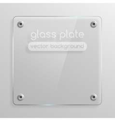 Glass plate background vector image