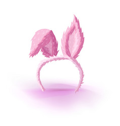 hare ears on the rim vector image vector image
