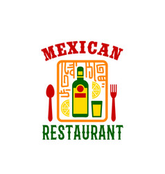 Icon for mexican food restaurant menu vector