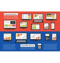 Icons Business vector image vector image