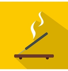 Incense stick icon flat style vector