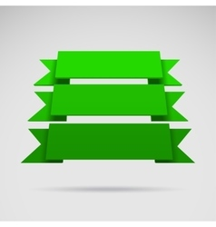 Infographic 3D green ribbons vector image vector image