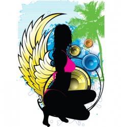 Island goddess vector