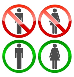 Men and women logo vector image
