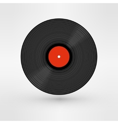 Old retro black record LP eps10 art vector image