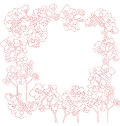 orchids frame vector image vector image