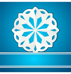 paper cut snowflake vector image vector image