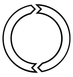 Rotation circle stroke icon vector