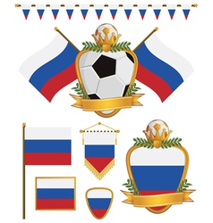 russia flags vector image vector image
