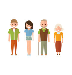 set of style family people in cartoon style vector image vector image