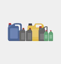 Simple of different canisters vector