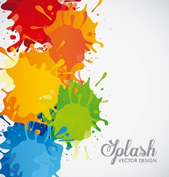 Splash concept design vector