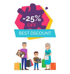 -25 off best discount placard vector