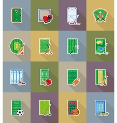 sport flat icons 78 vector image