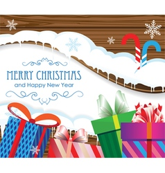 Christmas gifts and candy canes vector