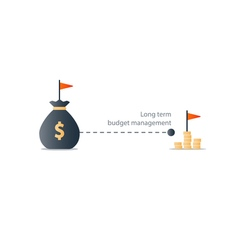 Distant future financial target budget plan icon vector