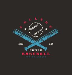 Emblem of baseball championship vector