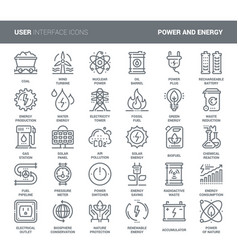 Power and energy vector