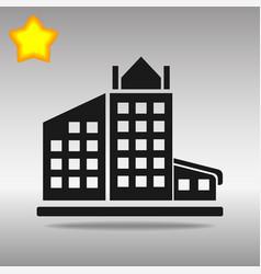 Black building icon button logo symbol concept vector