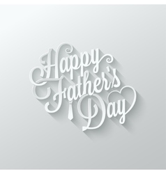 Fathers day cut paper lettering background vector