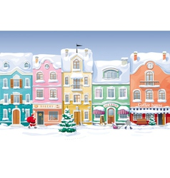 Winter cityscape 4 vector