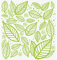 Leafs background vector