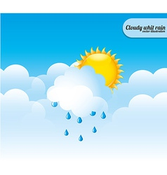 Cloudscape design vector