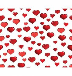 Valentine hearts seamless background vector