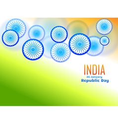 Republic day design made with wheel vector