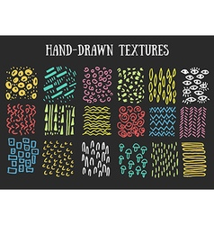Hand drawn textures isolated vector
