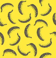 Seamless pattern with ink hand drawn bananas vector
