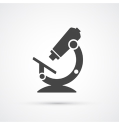 Trendy flat microscope science and medical icon vector