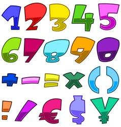 Bright cartoon numbers vector