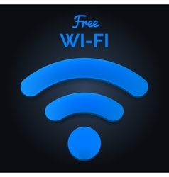 Wi-fi signal isolated free wi-fi text vector