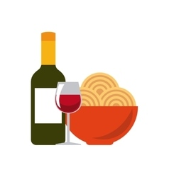 Traditional food icon italy culture design vector