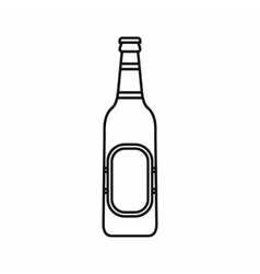 Bottle of beer icon outline style vector