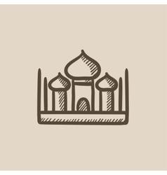 Mosque sketch icon vector image