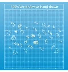 a hand drawn arrows vector image