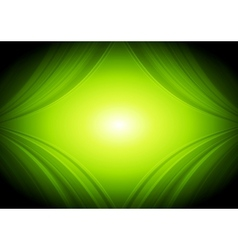 Abstract green waves tech background vector