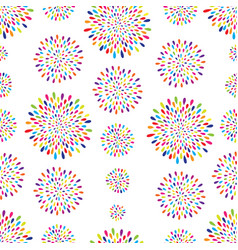 abstract pattern firework spot circle ornament vector image vector image
