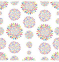 Abstract pattern firework spot circle ornament vector